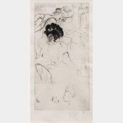 Louis Auguste Mathieu Legrand (French, 1863-1951)      Au Café - La Négresse