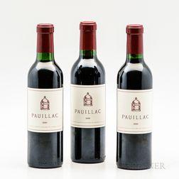 Pauillac (de Chateau Latour) 2000, 3 demi bottles