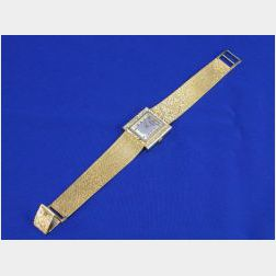 Mans 14kt Gold Longines Wristwatch.