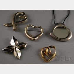Five Tiffany & Co. Jewelry Items