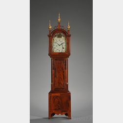 Mahogany and Mahogany Veneer Dwarf Clock