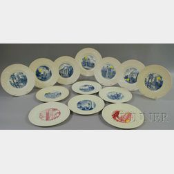 Thirteen Wedgwood Duke University Ceramic Plates.