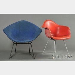 Bertoia Diamond Lounge Chair and an Eames Chair