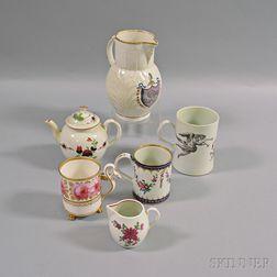 Six English Porcelain Items
