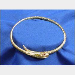 18kt Gold and Diamond Bypass Bracelet
