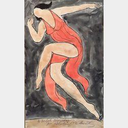 Abraham Walkowitz (American, 1880-1965)  Isadora Duncan