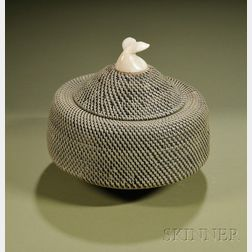 Large Eskimo Baleen Basket