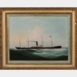 China Trade School, 19th Century      Portrait of the Steam Vessel Hakata Maru.