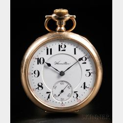Hamilton 16 Size 21-jewel Gold-filled Open Face Watch