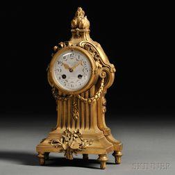 Susse Freres Louis XVI-style Bronze Mantel Clock