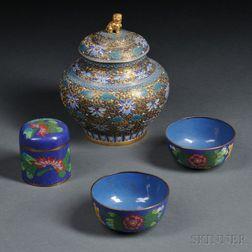 Four Cloisonne Items