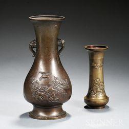 Two Bronze Vases