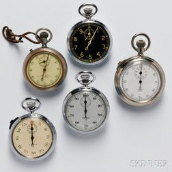 Five Military Stopwatches