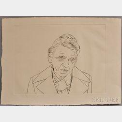 Theo Wujcik (American, 1936-2014)      Untitled (Portrait)