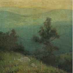 Zulma Steele (American, 1881-1979)      Rolling Hills, Crepuscule