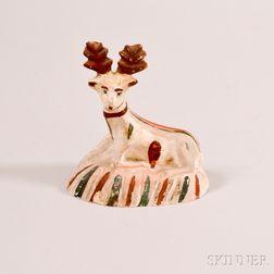 Chalkware Figure of a Deer