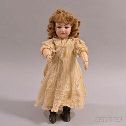"Simon & Halbig ""Santa"" Bisque Head Character Doll"