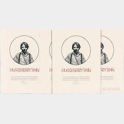 Barry Moser Illustrated Pennyroyal Press Centenary Edition of Huckleberry Finn