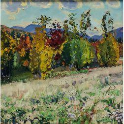 Christopher Huntington (American, b. 1938)      October Landscape
