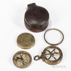 Two Brass Pocket Sundials