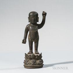 """Bronze """"Baby"""" Buddha"""