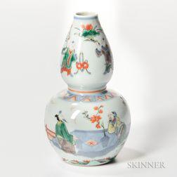 Wucai Double Gourd Vase