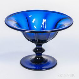 Cobalt Blue Pittsburgh Glass Compote