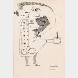 Victor Brauner (Romanian, 1903-1966)      Untitled Figure