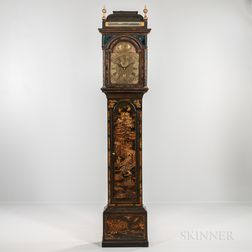 David Paine No. 582 Japanned Longcase Clock