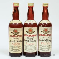 Dumbarton 10 Years Old, 3 4/5 quart bottles