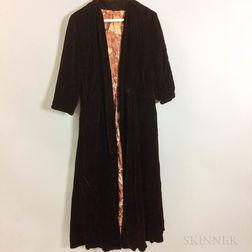 Silk Velvet Woman's Coat