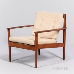Grete Jalk (1920-2006) for Poul Jeppesen Lounge Chair
