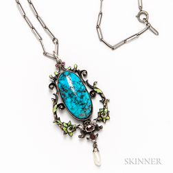 Renaissance Revival Sterling Silver Necklace