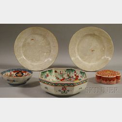 Five Assorted Asian Porcelain Table Items