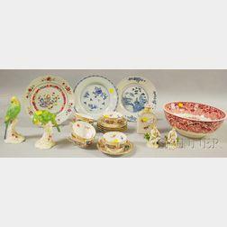 Twenty Pieces of Assorted Decorated Porcelain and Ceramics