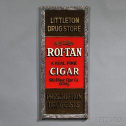"Reverse-painted ""Littleton Drug Store"" Sign"
