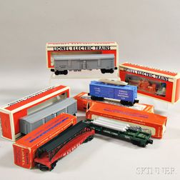 Six Boxed Lionel Trains