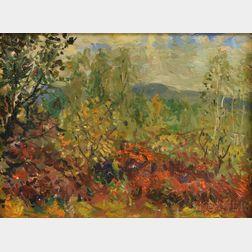 Vladimir Lebedev (Russian/American, 1910-1991)      Autumn Hill