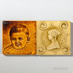 Two C. Pardee Works Art Pottery Tiles