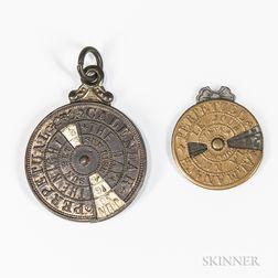 Two Miniature Perpetual Calendars