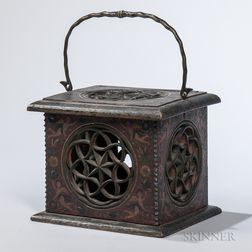 German Painted Wood Box