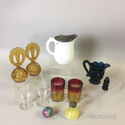 Eleven Glass Vessels