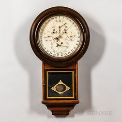 Welch Spring & Co. Gale's Perpetual Calendar Wall Clock