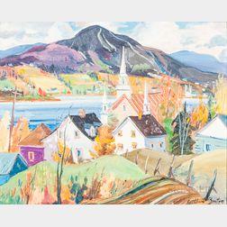Gilbert Breton (Canadian, b. 1939)      Sainte-Famille, Île-d'Orléans