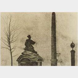 R. B. Kitaj (American, b. 1932)  Monuments