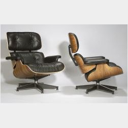 Two Eames Lounge Chairs