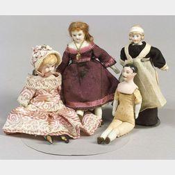 Four Doll House Dolls