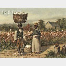 William Aiken Walker (American, 1838-1921)      Sharecroppers in the Cotton Field