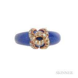 18kt Gold, Sodalite, and Diamond Ring, Cartier