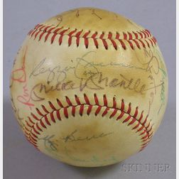 New York Yankees Autographed Baseball